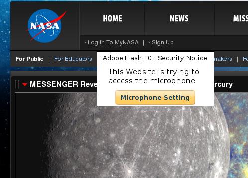 Perché la NASA vuole accedere al mio microfono?