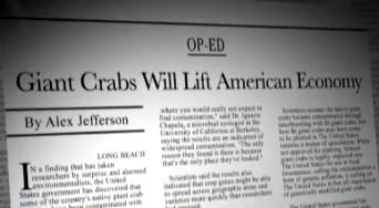 Per il New York Times, i granchi giganti risolleveranno l'economia americanana.
