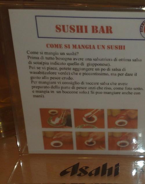 Come si mangia un sushi?