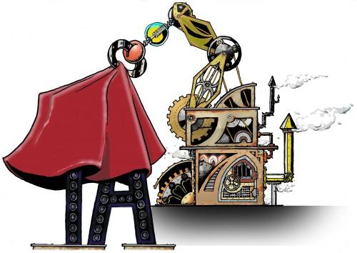 Il robot di Tecnica Arcana, il simbolo del lancio del nuovo sito (by Simone Graziani)