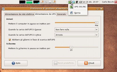 Ubuntu 8.10 gestisce perfettamente gli UPS APC